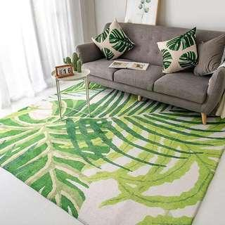 Green Leaves Area Rug