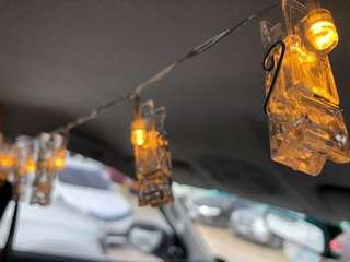 LED String Lights with Photoclips