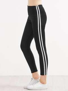 Brand New Striped Leggings