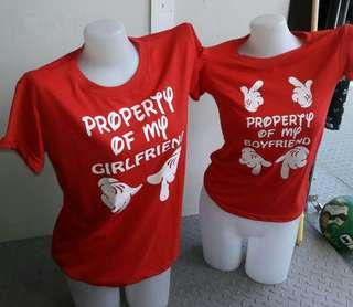 Valentines couple's shirt