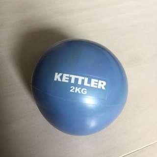 運動健身 2kg 藥球 fitness medicine ball