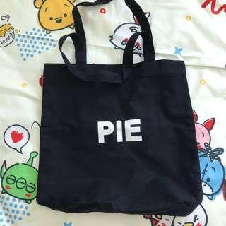 pie tote bag black korean ulzzang canvas
