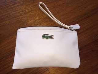 Authentic Lacoste wallet wristlet white