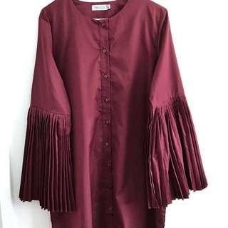 🆕FV Basics Pleated Sleeves Blouse