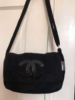 Chanel VIP plush sling bag