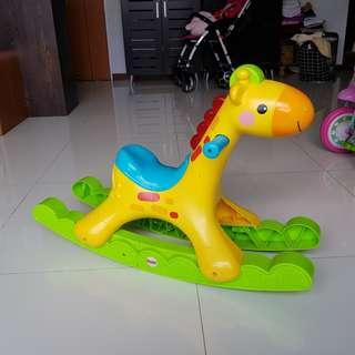 🚚 Fisher Price Rocking Tunes Giraffe Horse with music