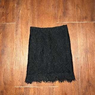 Topshop lace skirt