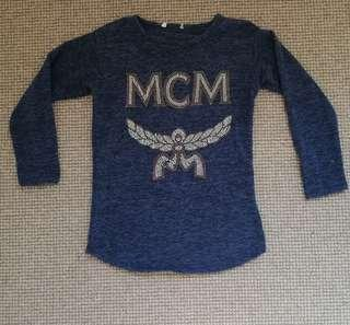 MCM Man Crush Monday copy Long sleeve embellished stud  top S 8