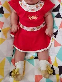 🚚 Cny baby girl dress