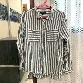 Grey Stripes Blouse