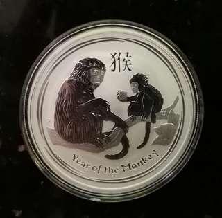 2016年澳洲生肖系列第二組猴年1安士紀念銀幣