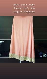 Chiffon maxi/princess cut skirt