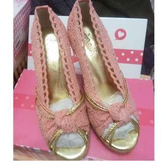 Ann'S 草藤之戀 藤編楔型鞋*粉色   37號  23.5cm  全新品   需先匯款才出貨  運費另計60元  另外加贈全新鞋墊