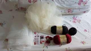 Craft Materials (Wool, Fabric, Needles, Embroidery Thread)