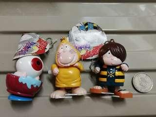 Amuse 鬼太郎 匙扣機 景品 步行玩具 一套3隻 (未使用品)
