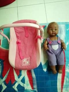doll carrier with doll