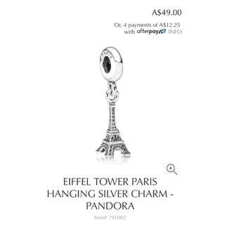 Pandora Eiffel Tower Paris Hanging Charm