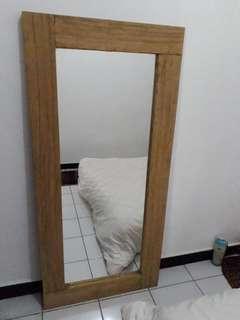 Big mirror teakwood / Cermin besar kayu jati