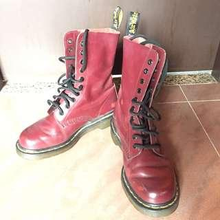 Dr Martens 酒紅色 鞋 Boot size:37 [10孔]Air Cushion Sole 10 eyes