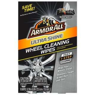 🚚 Armor All Ultra Shine Wheel Cleaning Wipes (16 count), , 1 Pack