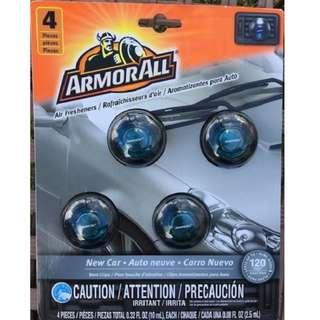 🚚 Armor All  Car Air Freshener Vent Clip, 4-PACK (Tranquil Skies) Total 10ml  VALUE PACK !125% more