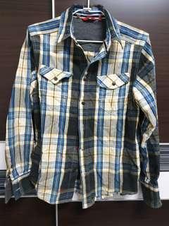 🚚 【降價】EDWIN-格紋長袖襯衫上衣-男款