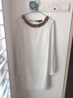 Coast UK10 white short dress