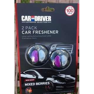 🚚 CAR & DRIVER 2-Pack Car Freshener Odor Neutralizing Mixed Berries 2 pack long last Total 10ml Value pack! 125% more