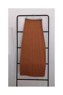 SHILLA A$60 camel colour MAXI LONG SKIRT light wait 8 10 S