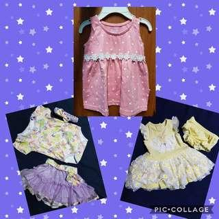 Baby girls dress and shoes
