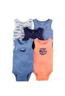 Carter Sleeveless Bodysuits - 5pcs