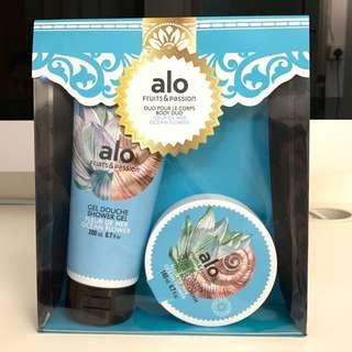 🇨🇦 alo Fruits & Passion Shower Gel 200ml and Whipped Body Cream 140ml - Ocean Flower