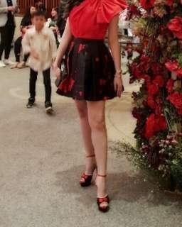 Shanghai Tang pleated skirt