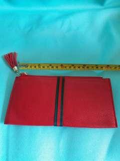 全新 長銀包 設計可放6張信用卡 棗紅色 灰色選擇