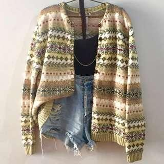 Knitted Aztec Cardigan