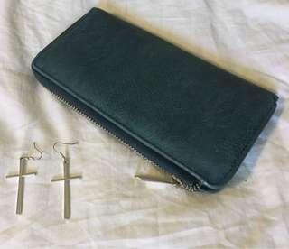 Earrings + Wallet