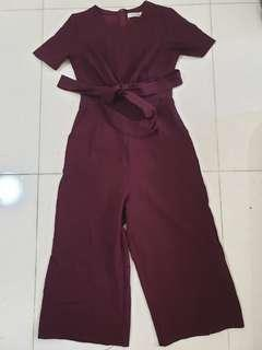 Maroon Red Jumpsuit Size S