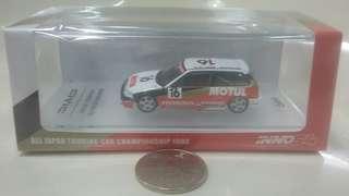 Honda Civic EF3 Gr.A #16 Mugen Motul 跑車模型 1:64