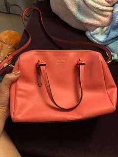 Coach 粉橙手袋
