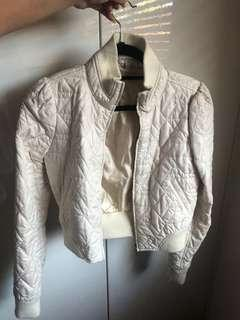 Cream white jacket