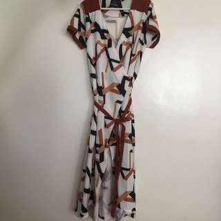 Preloved plains and prints dress