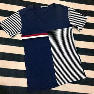 Cotton V-neck Tshirt