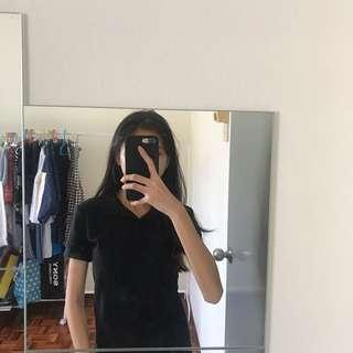 Black Plain Polo Shirt