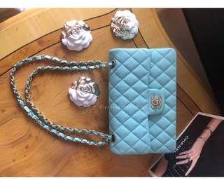 Chanel Tiffani blue flap