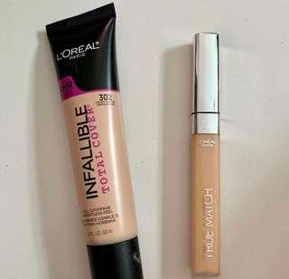 L'oreal Infallible Cover and Concealer