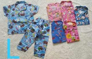 Baju tidur anak, size M,L,XL bahan katun jepang