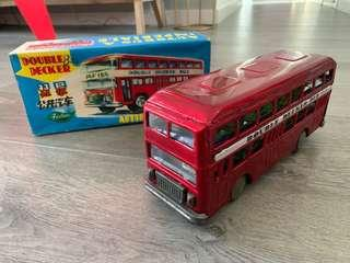 鐵皮玩具 雙層巴士