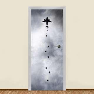 PARATROOPERS AIRBORNE IN THE SKY RESIDENTIAL DOOR ART