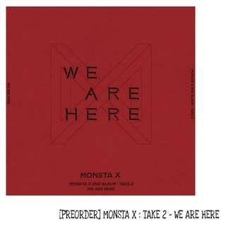 [PREORDER] MONSTA X : TAKE 2 - WE ARE HERE