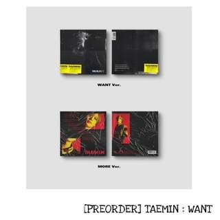 [PREORDER] TAEMIN : WANT